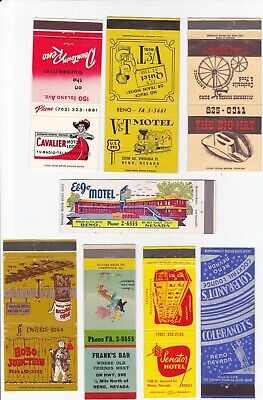 Collection Of Old Reno, Nevada Bar / Club Matchcovers