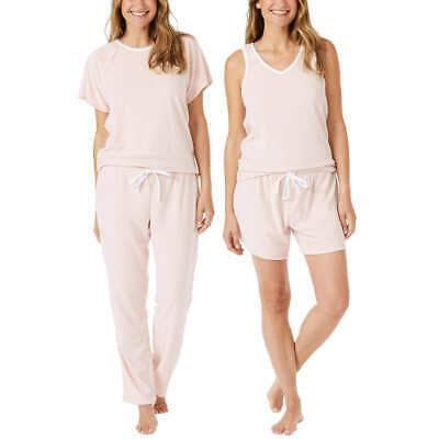 4piece Carole Hochman Woman Ladies Pajama Set Sleepwear Nightdress Bed Suit PJs