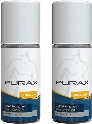 Purax Double Pack anti traspirante Roll-On Extra Strong 50ml - 7 giorni di