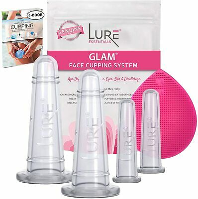 LURE Massage Cupping Set: BEST Skin Care Facial Treatment and Gift for Ageless