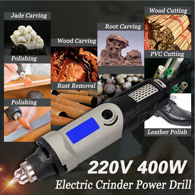 220V 400W Electric Die Grinder Power Drill Variable Speed Rotary Polishing Tool