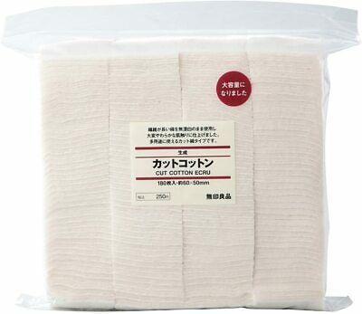 MUJI Makeup Facial Soft Cut Cotton Unbleached 60x50 mm 140pcs by Muji