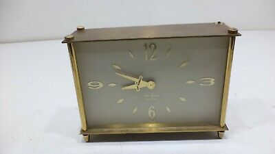 VINTAGE Seth Thomas 8 Day 7 Jewel  Mechanical Desk Clock as is project
