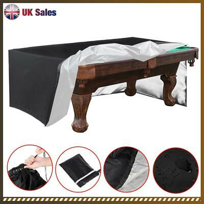 7-9ft  Waterproof Billiard Snooker Pool Table Dust Cover Anti-UV 3 Colour UK