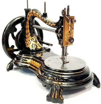 Antigua maquina de coser SERPENTINE jones Antique rare sewing machine de 1909