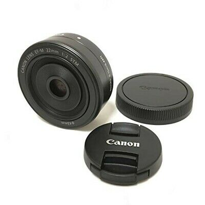 USED CANON EF-M 22mm F2 STM Focal Wide-angle Lens Black For EOS M Series