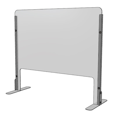 Counter Top Sneeze Guard Free Standing