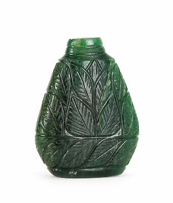 EMERALD Mughal STYLE Snuff BOTTLE 294ct PROVENANCE