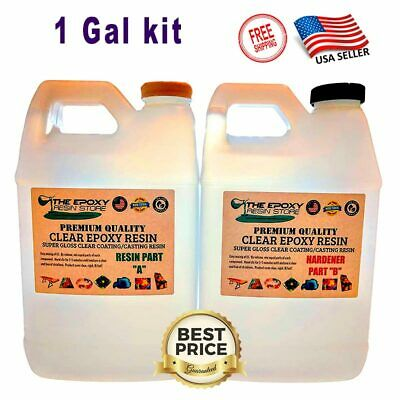 Gallon General Use Epoxy Resin Cures With Great Clarity and a High Gloss Finish