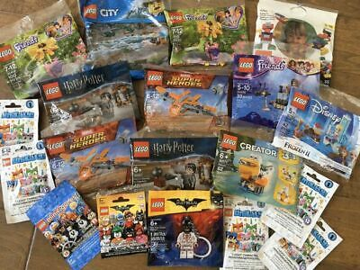 Lego Lot 19 Polybags Packs Harry Potter Super Heroes Friends Disney Minifigures