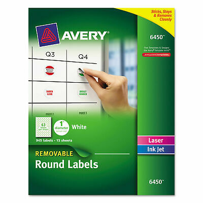 Avery Multiuse Removable Round Labels