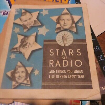 Stars Of The Radio Booklet