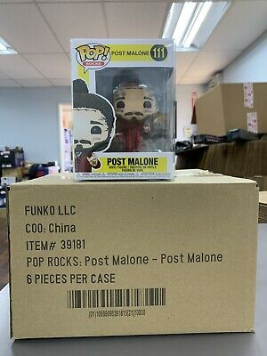 Funko 39181 Pop Rocks Post Malone Vinyl Figure w/ Protector IN STOCK