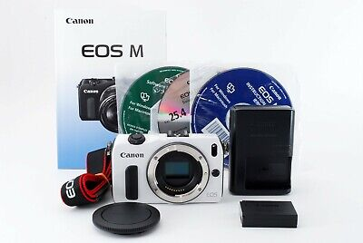 Canon EOS M 18.0MP Mirrorless Digital Camera Body White Excellent++ Tested #5129
