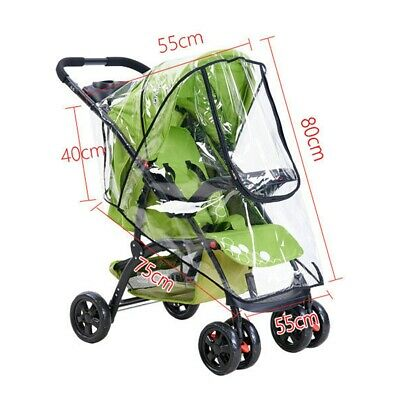 Waterproof Clear Universal Stroller Raincover Pushchair Pram Baby Safe Cover USA