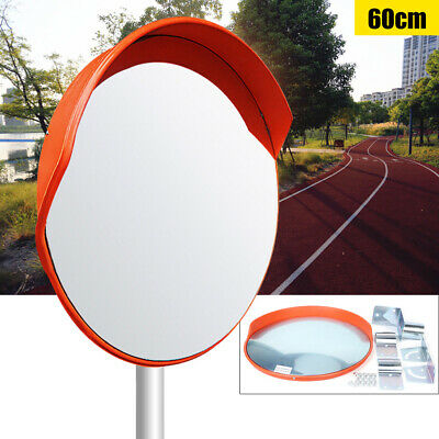 "24"" Convex Security Safety Mirror Outdoor Road Traffic Driveway Wide Angle"