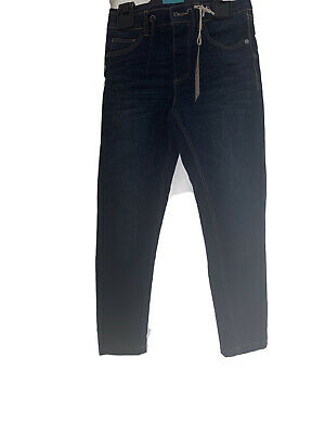 Boys Marks & Spencer Size 5-6 Dark Blue Denim Jeans