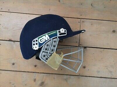 JUNIOR GUNN AND MOORE CRICKET HELMET GM PURSUIT GEO HELMETS NAVY KIDS