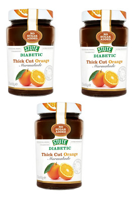 Stute Thick Cut Diabetic Orange Extra Marmalade No Sugar Added 430g Pack 3