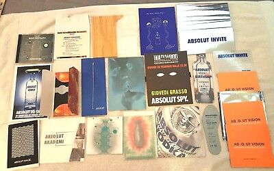 Absolut Vodka Exclusive Invitation Collection Lot(26) Events Openings Art Shows