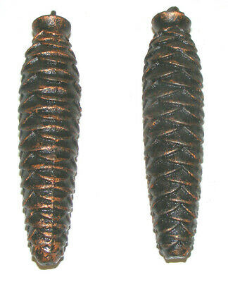 """2 PINE CONE WEIGHT FOR CUCKOO CLOCK 20 SCH 5"""" Lot Vintage"""