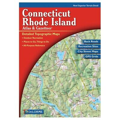 Delorme Connecticut/Rhode Island Topographical Road Atlas & Gazetteer