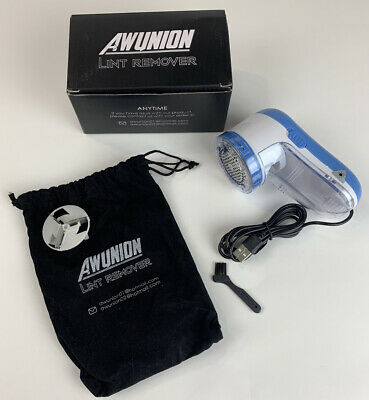 AW Union Lint Remover USB Powered Cord Clothing Shaver