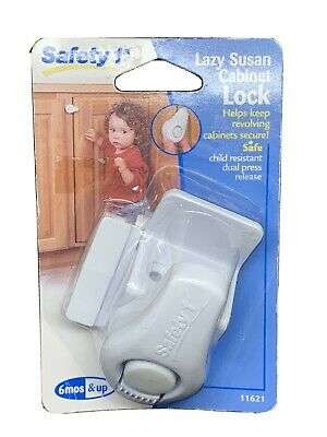 Lazy Susan Cabinet Lock Safety 1st 6 mos and Up #11621 Child Resistant Baby Kids