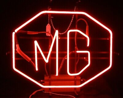 Rare Vintage (1960) Neon Light From a MG Sportscar Dealership in Lititz, Penna.