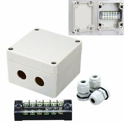 Waterproof Enclosure Electrical Junction Box Connector Terminal Wire Cable Box