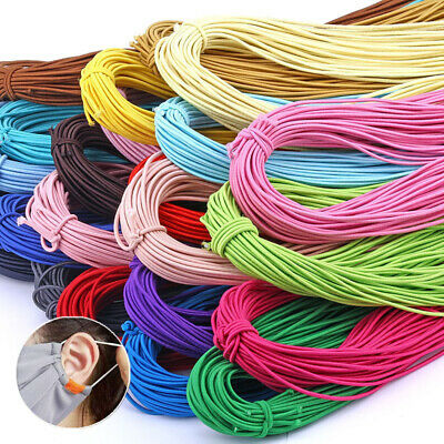 2mm Round Elastic Bands String Rubber Stretchable Cord Sewing Bows Crafts Making