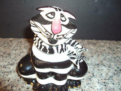Whimsical Black and White Kitty with Scarf Jar by Swank Lynda Cornelle  ID:44843