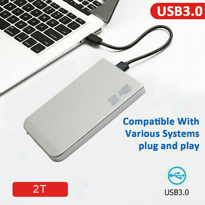 2TB USB3.0 Portable External Hard Drive HDD HD Disk Storage Devices For Laptop