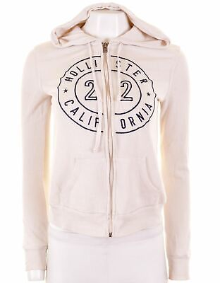 HOLLISTER Womens Hoodie Sweater Size 6 XS White Cotton  IQ01
