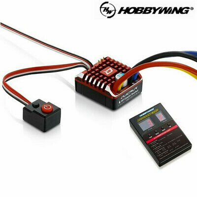 Hobbywing QuicRun 1080 Waterproof Brushed ESC 80A With Program Card for RC Car