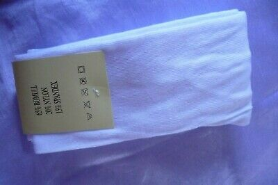 GIRLS AGE 11-12 YRS (146/152cm) new THICK COTTON RICH TIGHTS WHITE x-stores BNWT