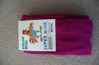 BNWT GIRLS AGE 7-9 YRS (134/140cm) THICK COTTON RICH TIGHTS CERISE NEW X-STORE