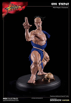 NIB Pop Culture Shock PCS Street Fighter Oro Player 2 Exclusive Statue