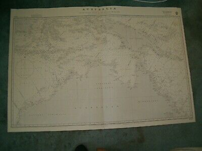 Vintage Admiralty Chart 2759A AUSTRALIA - NORTHERN PORTION 1934 edn