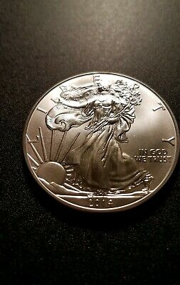 2014 American Silver Eagle (Brilliant Uncirculated) from mint tube
