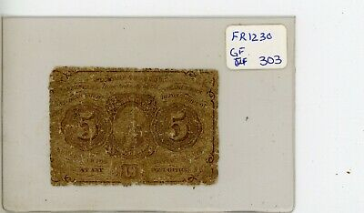 FR.1230 US 1st Issue 5 Cent Fractional - Circulated # 303