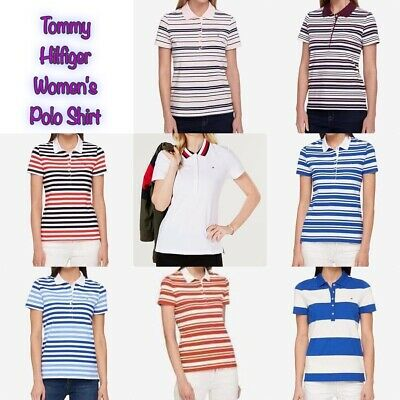 Tommy Hilfiger Women's Striped Pique Polo Shirt