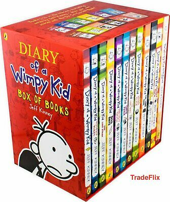 Diary of a Wimpy Kid Box of Books 12 Book Collection Paperback - Jeff Kinney