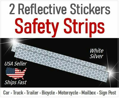 Fast! 2x Reflective Safety Sticker - Warning Tape - Truck Trailer Door Sign Post
