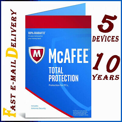 McAfee Total Antivirus 2020 🔰 5 Devices ✔ 10 Years ✔ Protection Genuine License