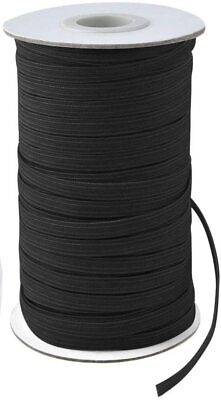 Knitted Elastic 1/4'' Wide 288 Yards - BLACK