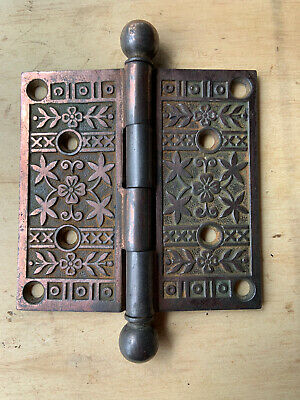 Antique Single Replacement Eastlake Design Cast Iron Door Hinge Restore