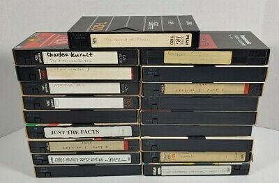 Lot Of 19 Used VHS Tapes Sold As Blanks