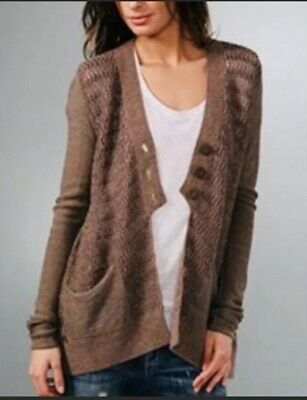 UMGEE Grape Button Front Fleece Waffle Knit Oversized Cardigan Sweater