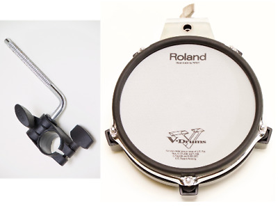 """Roland PD-85 8"""" Tom Snare Pad + MDH-7U Mount Electronic V-Drums Dual Trigger Pad"""